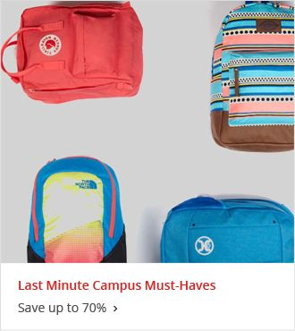 Last Minute Campus Must Haves Save up to 70%