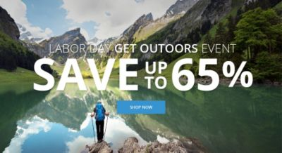 Get Outdoors Labor Day Event Save up to 65%