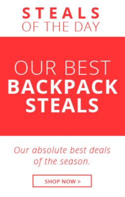 Steals of the Day Backpacks!
