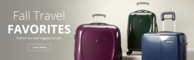 fall travel favorites explore our new luggage arrivals