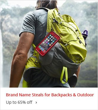 Up to 65% off Brand Name Steals for Backpacks & Outdoor