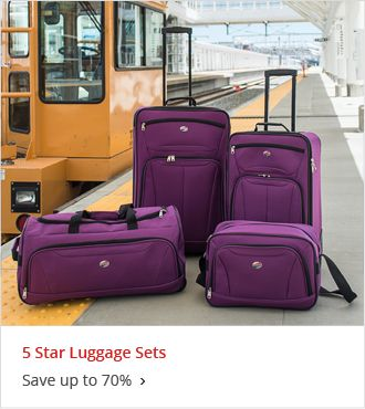5 Star Luggage Sets up to 70% off
