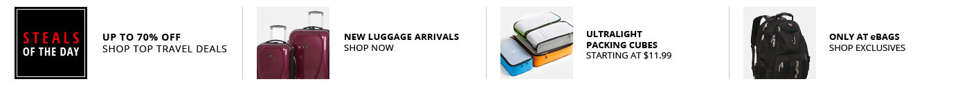 Steals of the Day - New Luggage Arrivals - Ultralight Packing Cubes - eBags Exclusives