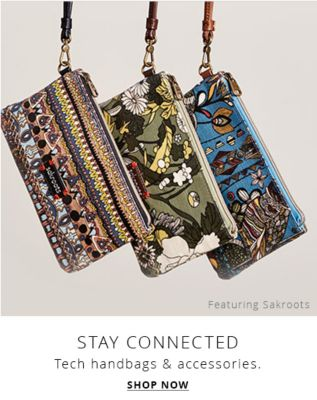 stay connected shop tech handbags & accessories shop now