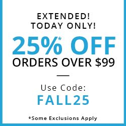 EXTENDED! TODAY ONLY! $25* OFF ORDERS OVER $99 USE CODE:FALL25