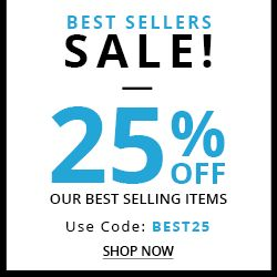 BEST SELLERS SALE! 25% OFF OUR BEST SELLING ITEMS USE CODE: BEST25 ENDS 10/27