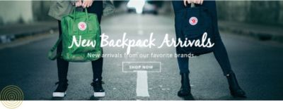 New Backpack Arrivals