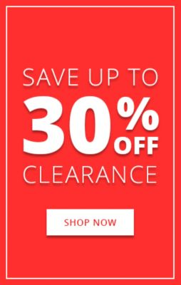 Save up to 40% Clearance