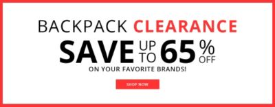 Backpack Clearance | Up to 65% Off on your Favorite Brands!
