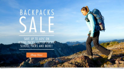 Save up to 65% on Hiking Packs, Laptop Packs, School Packs and More! Shop Backpacks Now