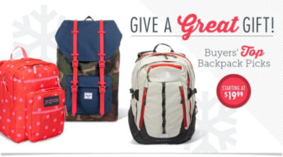 Give a great gift! Shop Buyers' Top Backpack Picks Starting at $19.99!