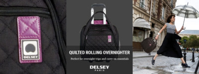 Shop Delsey Quilted Rolling Overnighter