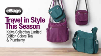 Travel in Style this Season Kalya Collection Limited Edition color Teal & Plumberry