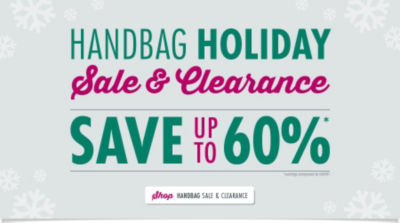 Holiday Handbag Clearance: Save up to 60%! Shop Now