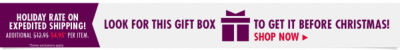 Look for the Gift Box Icon to get your items before Christmas! Shop Now