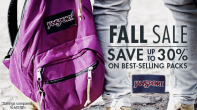 Shop Jansport Sale and Save up to 30% on Best-Selling Packs