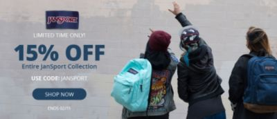 JanSport | 15% Off Entire Collection | Use Code: JanSport |  Ends 02/11 | Shop Now