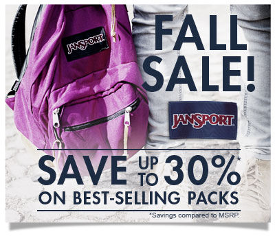 Shop JanSport Fall Sale! Save up to 30% on best-selling packs