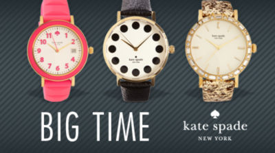 Big Time. Shop New Watches from Kate Spade New York.