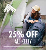 Kelty - save up to 25%