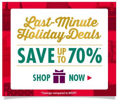 Shop Last-Minute Holiday Deals and Save up to 70%! Plus, Get it by Christmas with the gift icon!
