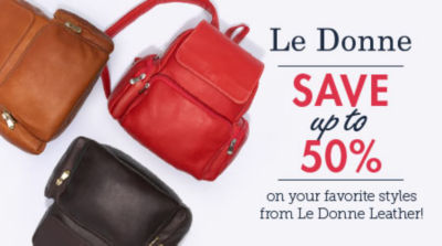 Save up to 50% off your favorite styles from Le Donne Leather! | Shop Now