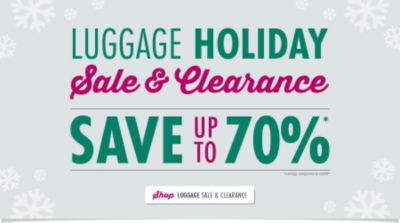 Luggage Holiday Sale and Clearance - Save up to 70% - Shop Now