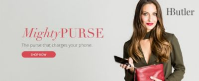 Mighty Purse | The purse that charges your phone. | Shop Now