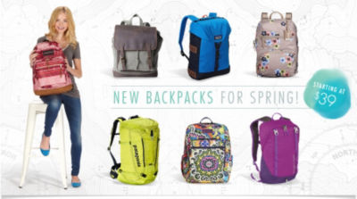 New Backpacks for Spring Starting at $39.99! Shop Now
