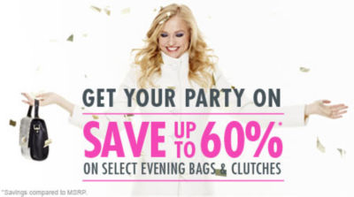 Save up to 60% on Select Evening Bags and Clutches! Shop Now