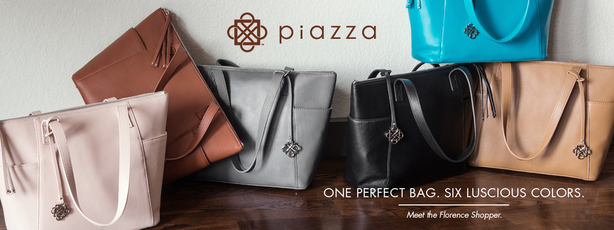 Piazza Handbags | One Perfect Bag; Six Luscious Colors. Meet the Florence Shopper.