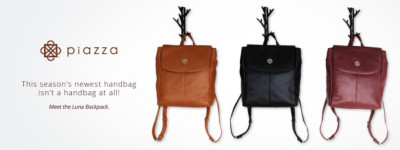Piazza Handbags | This season's newest handbag isn't a handbag at all!  Meet the Luna Backpack.