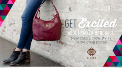 Get excited about Piazza Handbags and Purses. New colors. New styles. Same great prices! Shop Now