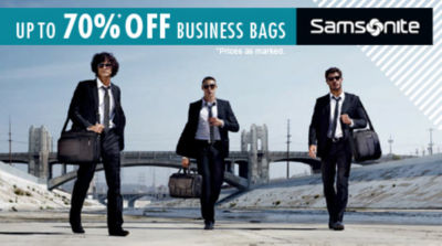 Save up to  70% on Samsonite Business Bags