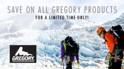 Save on Gregory Backpacks for a Limited Time Only! Shop Now