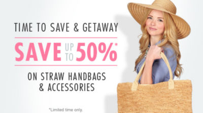 Save & Getaway with up to 50% Off Straw Handbags & Accessories! Shop Now