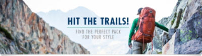Hit the trails! Find the perfect pack for your style. Shop Outdoor Backpacks Now!