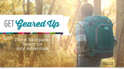 Shop Travel Backpacks and get ready for any adventure