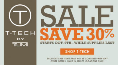 Tumi T-Tech Sale Save 30%