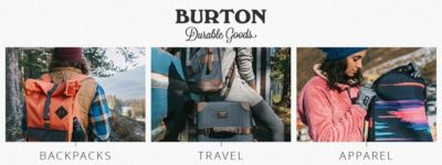 Shop Burton Bacpacks, Luggage, and Apparel