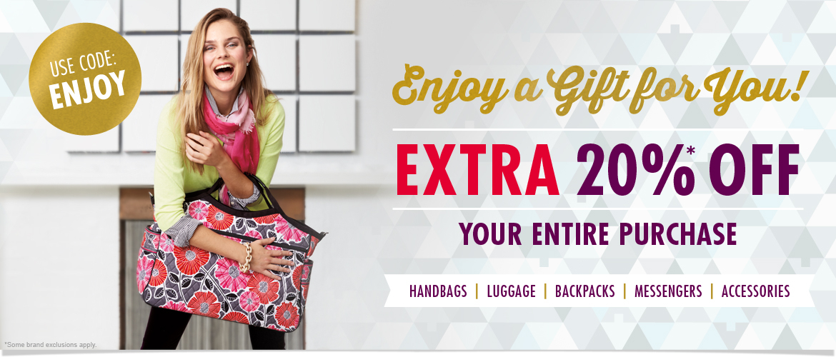 Enjoy a Gift for You! Take an Extra 20% OFF Your Entire Order! Use code ENJOY at Checkout.