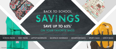Back to School Sale - Save up to 65% Off - *Excludes certain brands.