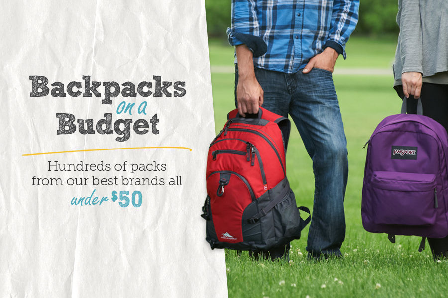 Shop Backpacks on a Budget