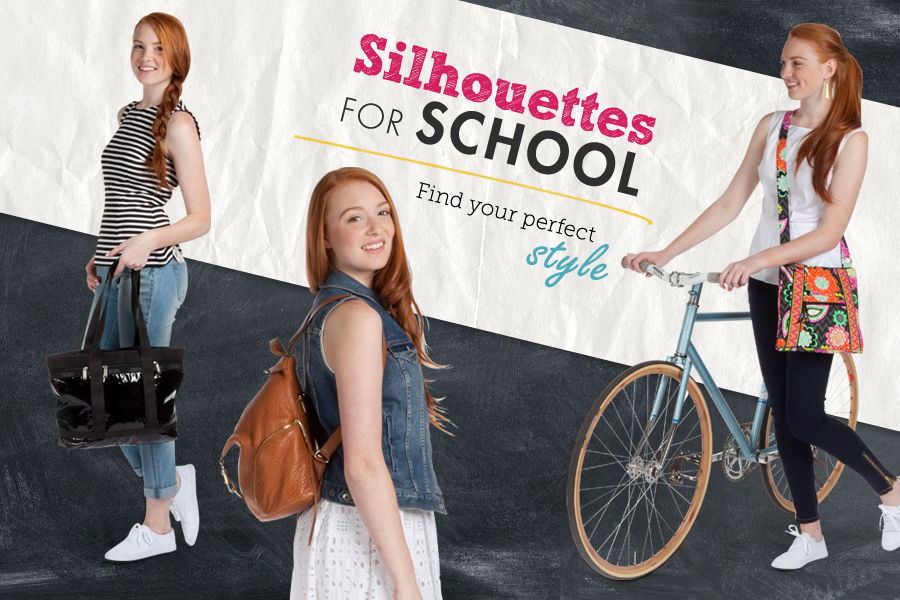 Shop silhouettes for School. Find your perfect style with handbags & purses.