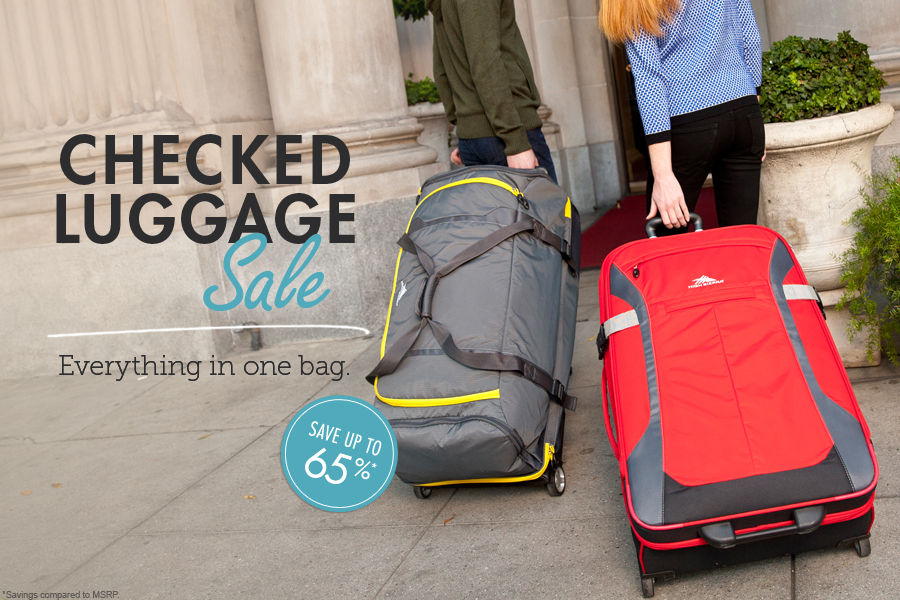 Shop Checked Luggage and Suitcases Sale