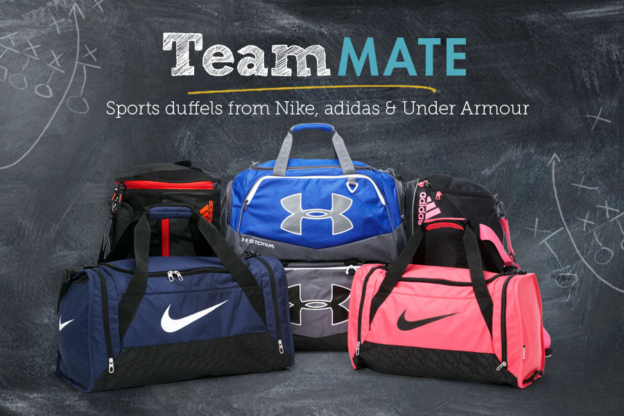 Team Mate: Shop Sports duffels from Nike, adidas, & Under Armour