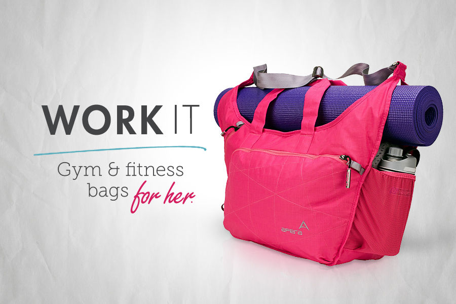 Work It. Gym & Fitness Sports Bags & Duffels for Her.