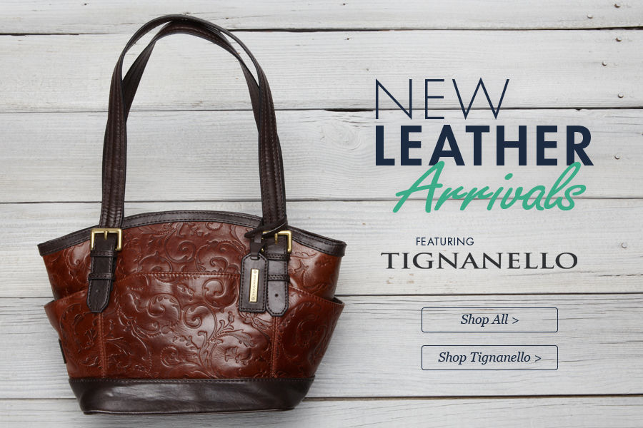 Shop New Leather Arrivals in Handbags & Purses featuring Tignanello
