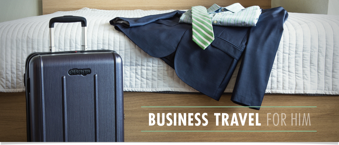 Business Travel for Him. Shop Laptop Bags, Luggage and Business Travel Accessories Now