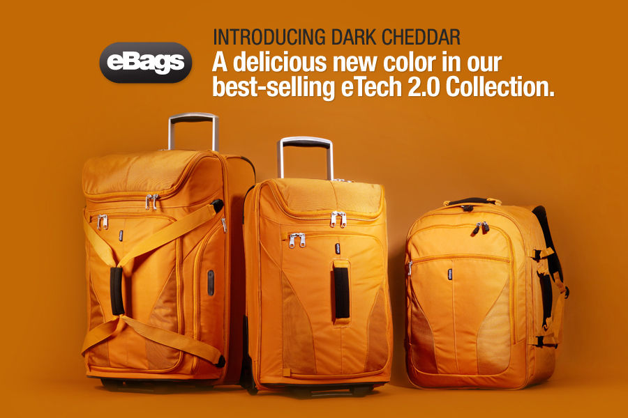 Shop the NEW eBags Brand eTech 2.0 Luggage Collection in Dark Cheddar.